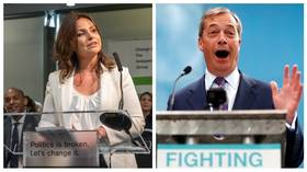 (L) Heidi Allen MP, Change UK - The Independent Group Interim leader © Global Look Press / Simon Chapman (R) Nigel Farage, The Brexit Party leader © Reuters / Eddie Keogh