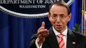 US Deputy AG Rosenstein resigns