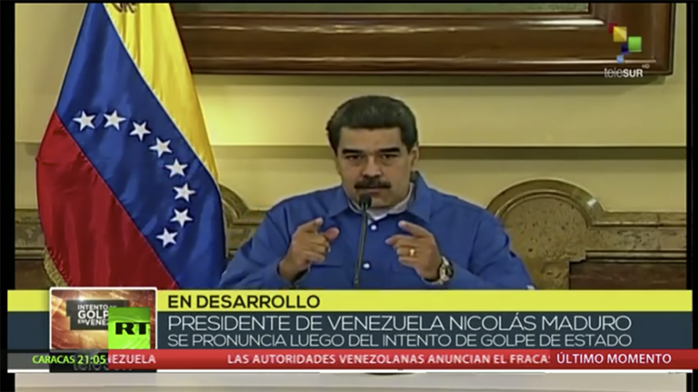 Maduro congratulates military on 'defeating' coup attempt as Guaido calls for more protests