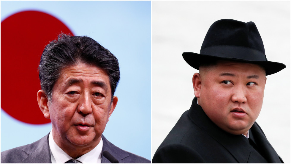 Japan's Abe indicates possible meeting with North Korea's Kim 'without conditions'