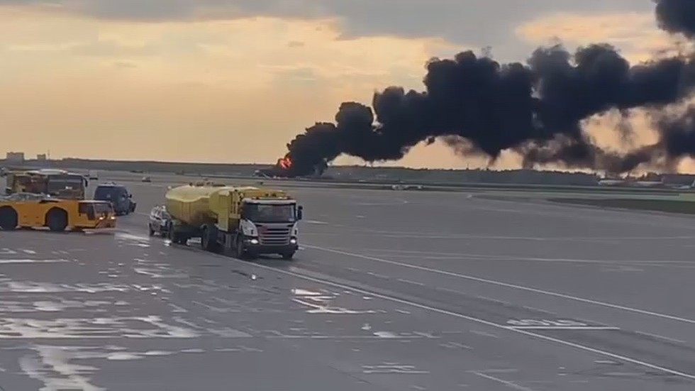 At least 5 injured as Superjet-100 crash-lands, catches fire at major Moscow airport – reports