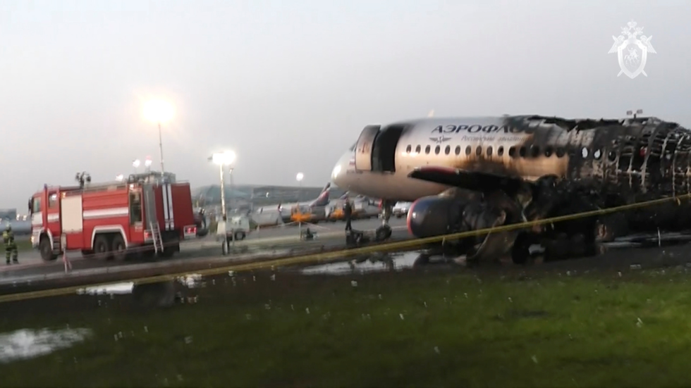 INSIDE the tragedy: PHOTOS show charred Superjet interior after catching fire in crash-landing