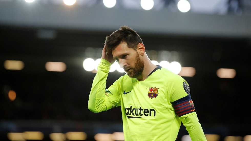 57ecea8703f4 'Overrated': Messi mocked as ineffective Argentine struggles in UCL  collapse at Anfield — RT Sport News