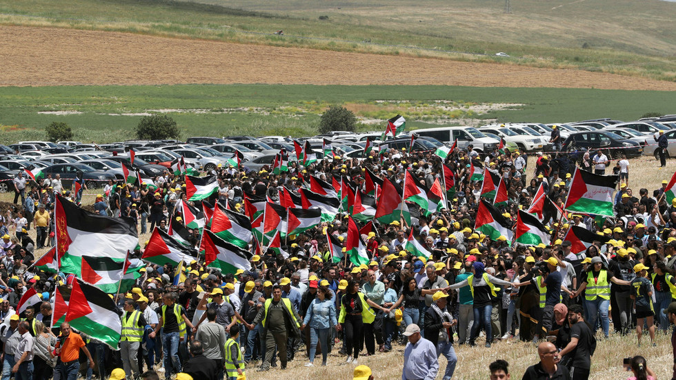 Thousands march in empty Palestinian village of Khubbayza to mark Nakba (PHOTOS, VIDEOS)