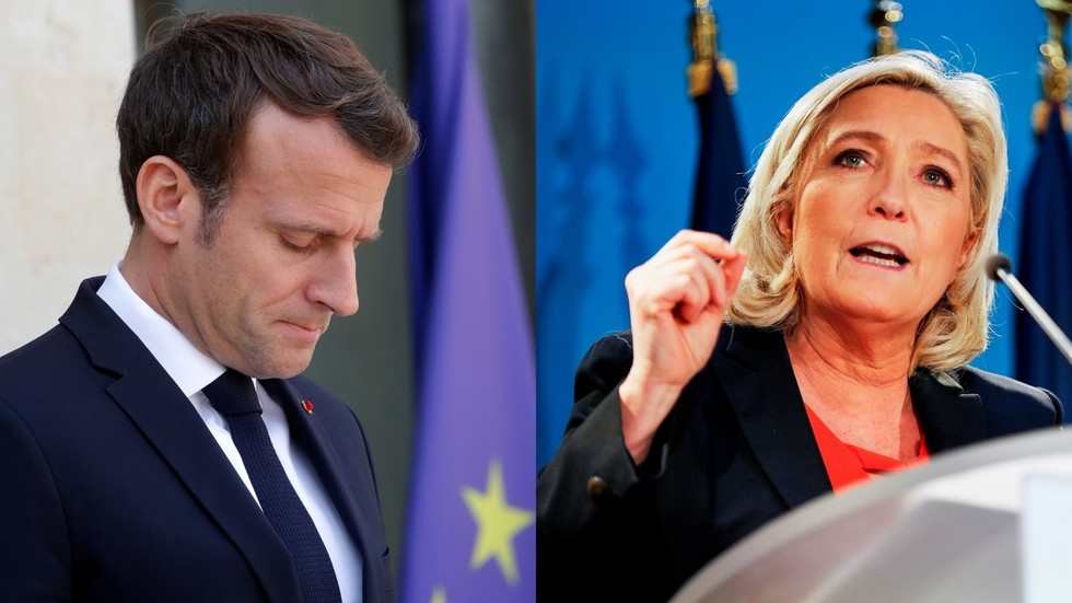 Macron should leave 'like de Gaulle' if he loses European election – Le Pen