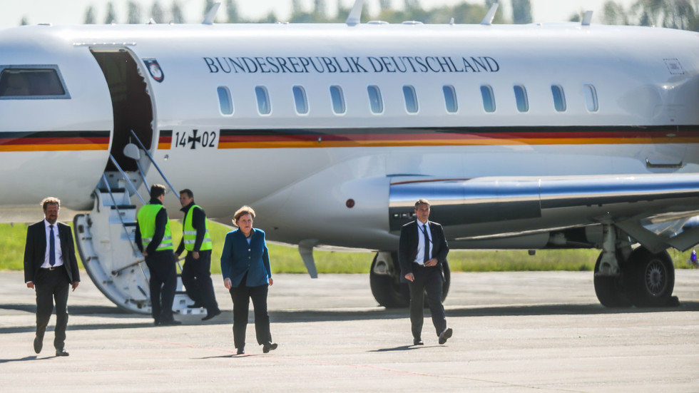 Merkel forced to swap planes again as van rams her jet (PHOTOS)