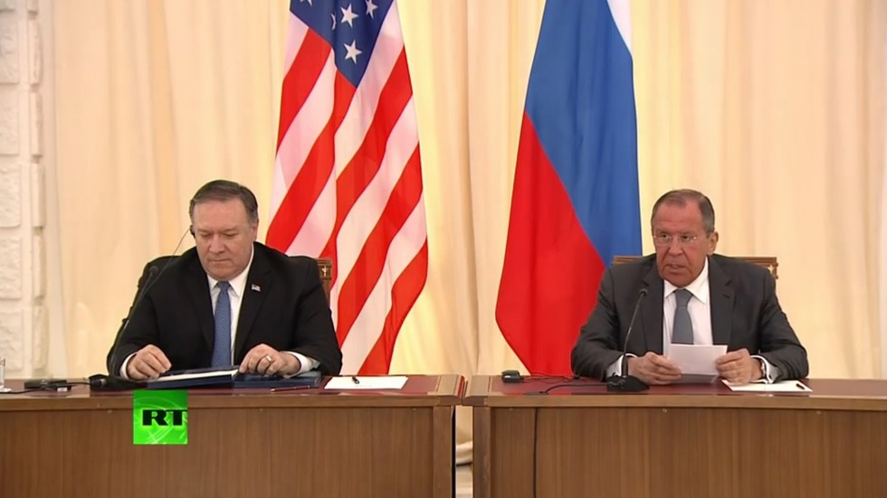 Lavrov & Pompeo agree to work on nukes control but clash on Venezuela, election interference