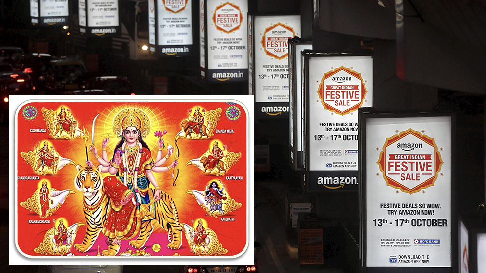 Amazon won't stop selling 'offensive' toilet rugs with Hindu gods despite mass backlash from Indians