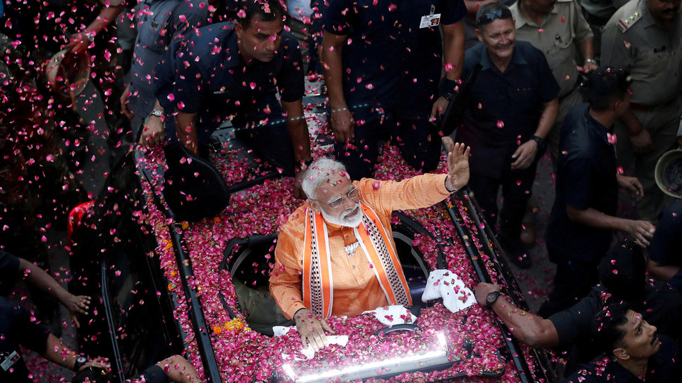 Indian PM Modi secures 2nd term & stronger majority, exit polls show