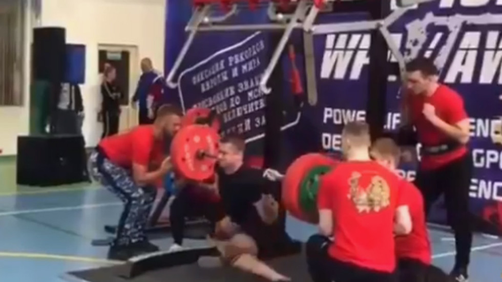 5927f82e2d Powerlifter suffers horrific injury at Eurasian Championship (GRAPHIC  VIDEO) — RT Sport News