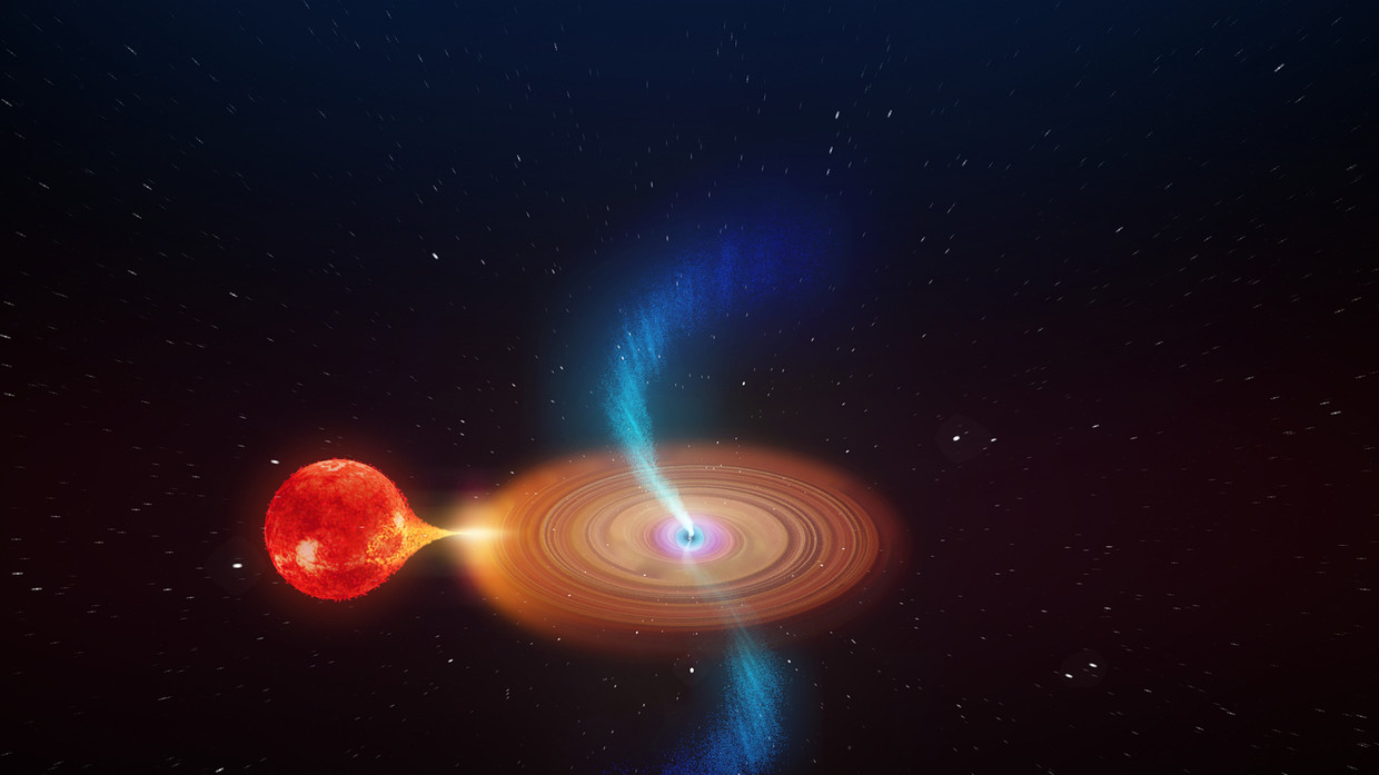 Astronomers 'gobsmacked' by black hole so powerful it's dragging space behind it