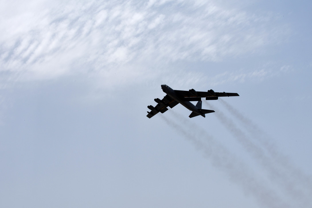 American B-52s fly first mission over Persian Gulf to 'send