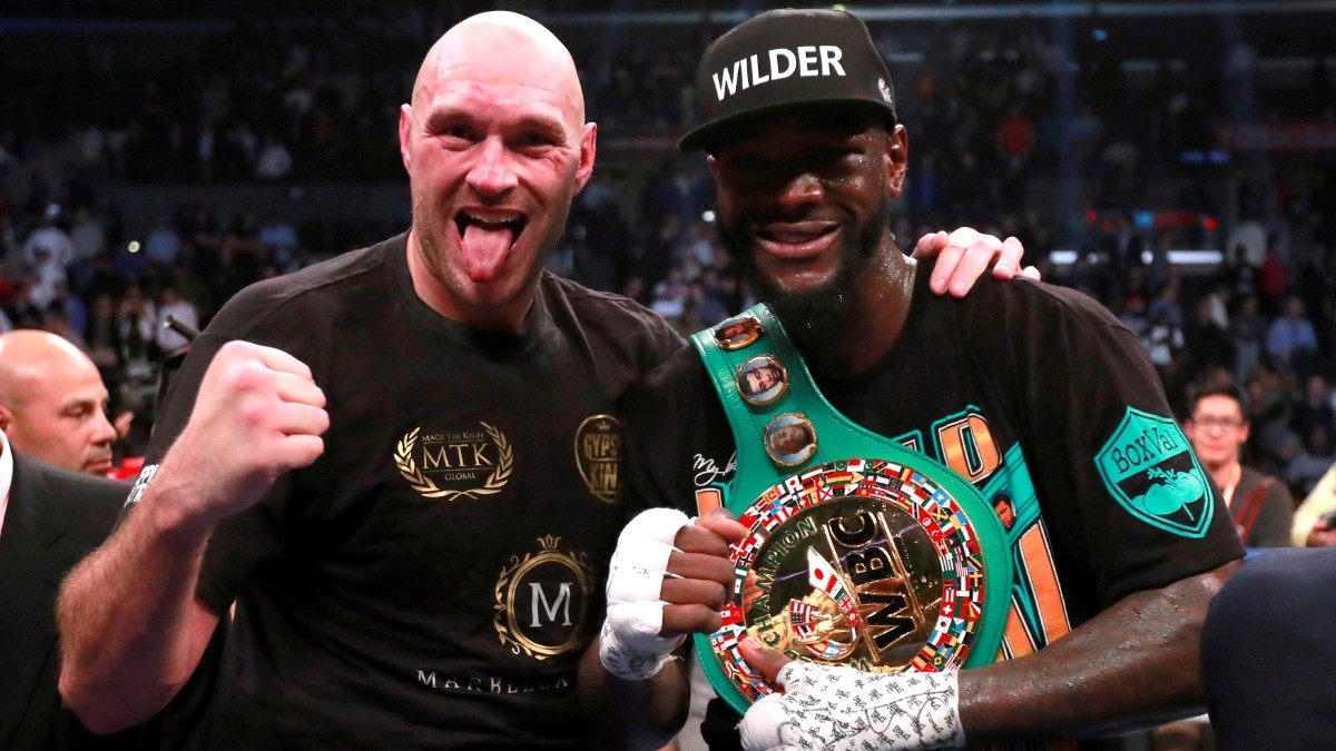 Tyson Fury and Deontay Wilder after their controversial draw © Reuters / Andrew Couldridge