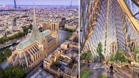 Vincent Callebaut Architectures proposal for the Notre Dame renovation.