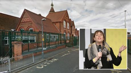 (Main) Anderton Park Primary School © Google Maps (Bottom-right) Labour MP Jess Phillips © AFP / Isabel Infantes
