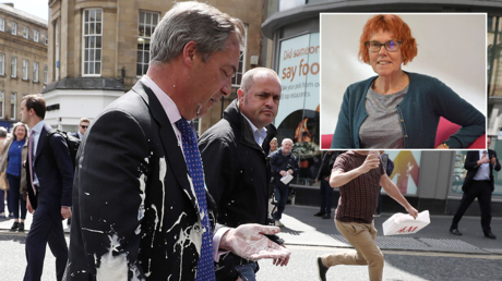 'I'd prefer ACID but milkshakes will do': Charity worker provokes outrage with Farage attack tweet