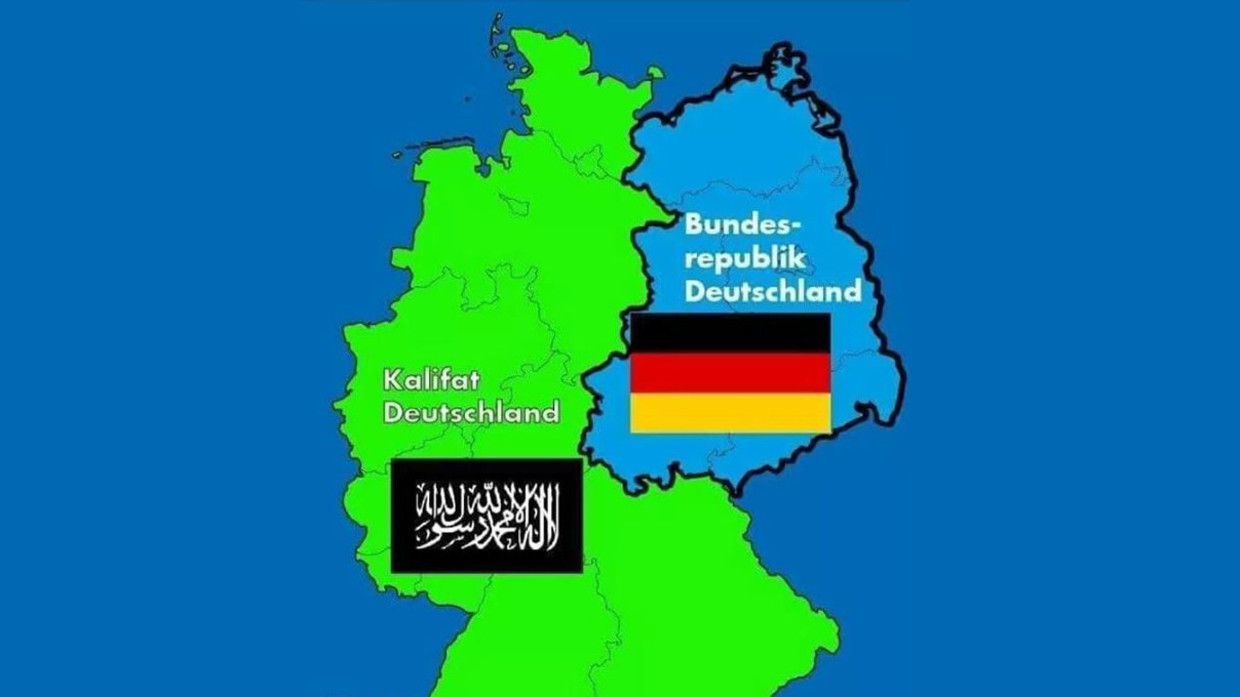 German Caliphate Afd Branch Under Fire Over Map Showing West Of Germany Taken Over By Islamists Rt World News