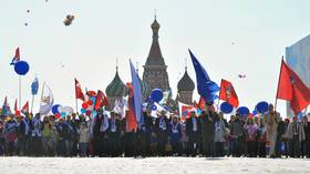 Over 2.4 million people mark May Day in Russia, dozens arrested (PHOTOS)