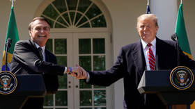 FILE PHOTO: President Donald Trump meets Brazilian President Jair Bolsonaro at the White House in March © Reuters / Kevin Lamarque