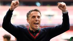 Going up! Class of 92 celebrates as Salford City earn historic promotion to English Football League