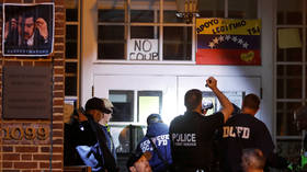 US police raid Venezuelan embassy to evict pro-Maduro activists defending it from 'illegal seizure'
