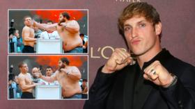 Slap happy: YouTube star Logan Paul amps up training for Russian 'slap duel'