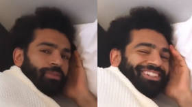 'Egyptian Kings need sleep too!': Liverpool ace Mo Salah filmed napping on plane floor (VIDEO)