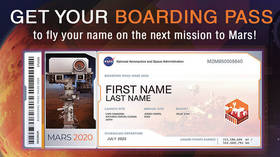 Sharing personal data with aliens? NASA collects people's names for 2020 Mars rover launch