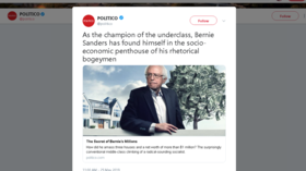 Politico ripped for 'anti-Semitic' illustration of Sanders, who is Jewish, with 'money tree'
