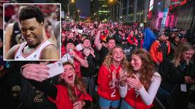 Dancing in the streets: Raptors fans pack the streets of Toronto to celebrate first NBA Finals