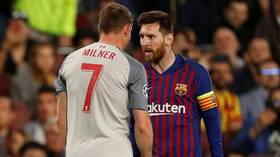 Livid Leo: Lionel Messi branded James Milner a 'donkey' during Champions League defeat