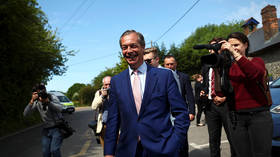 'Looks like a big win': Nigel Farage's Brexit party sailing to victory in EU elections – exit polls