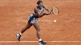 Serena Williams gets 1st win in 'zebra' outfit at French Open despite dropping opening set