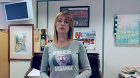 'Free Assange': Irish politician wears t-shirt supporting WikiLeaks founder as she becomes MEP