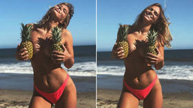 Pineapple love: Russian swimmer Efimova shares steamy snaps from Malibu beach (PHOTOS)