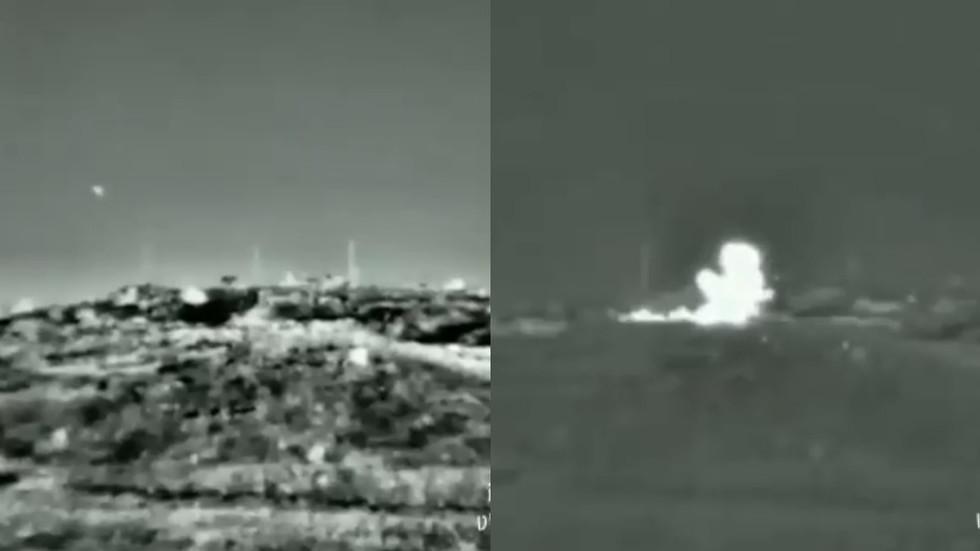 Israeli Army shares VIDEO of strike & hit on Syria during air raid