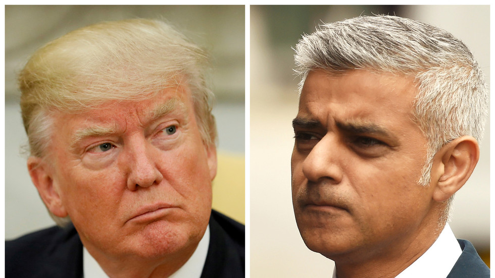'Stone cold loser': Trump lashes out at London Mayor Sadiq Khan as Air Force One lands in UK