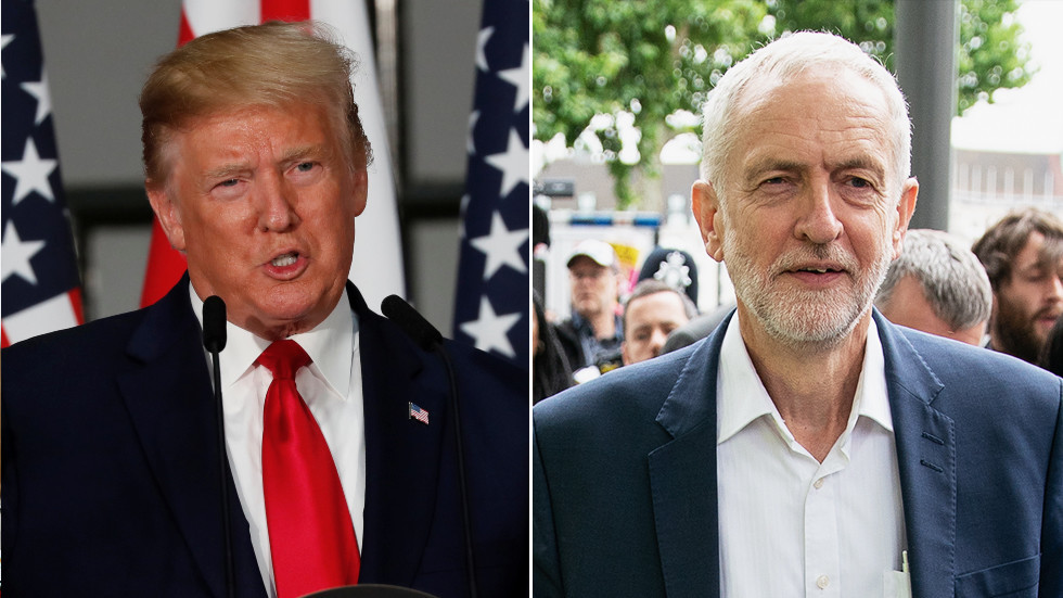 'He's a negative force!': Trump rejected meeting with Labour Party's Jeremy Corbyn