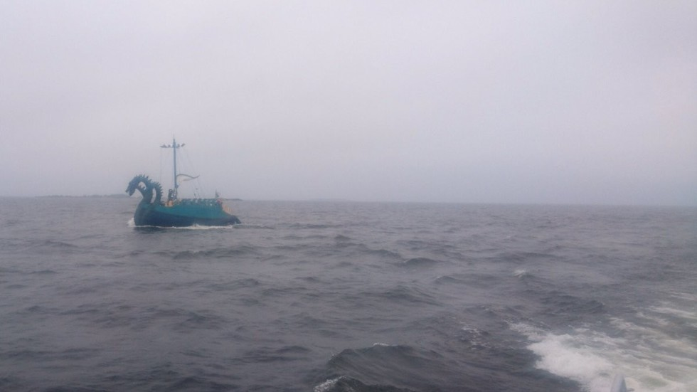 Stunned Finnish Coast Guard spots '3-headed sea monster'… turns out to be a 'Russian yacht'
