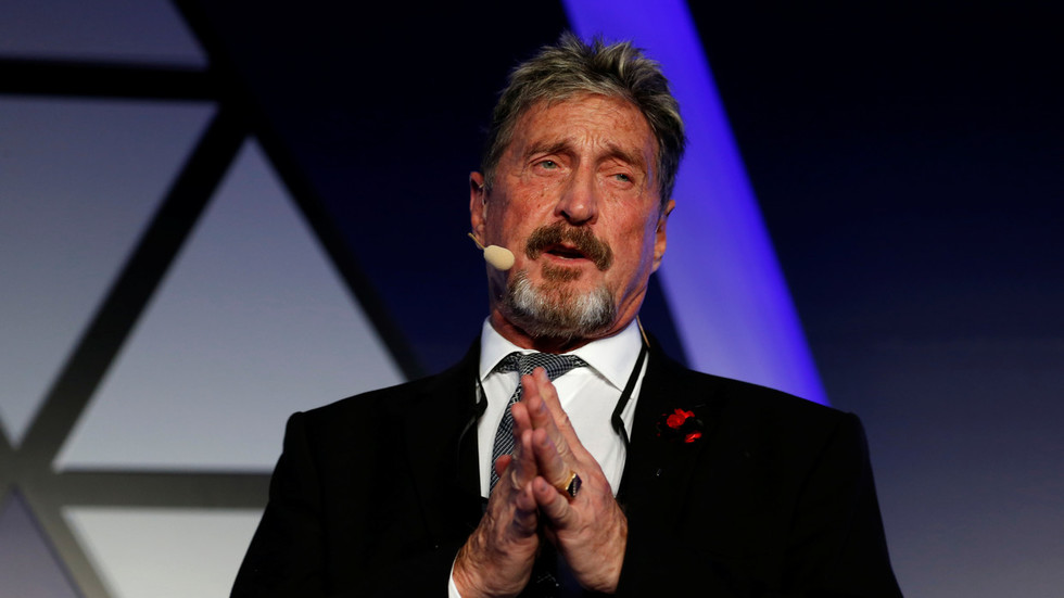 'I'll f***ing bury you!' McAfee vows to expose corrupt US officials & CIA agents if 'disappeared'