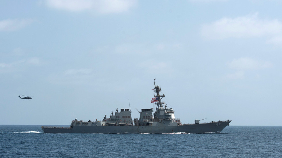 US sends destroyer to Gulf of Oman tanker incident site as Pentagon says 'no interest' in new war