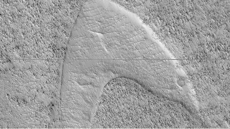 Nerdgasm: Star Trek's Starfleet logo spotted on Mars (PHOTO)