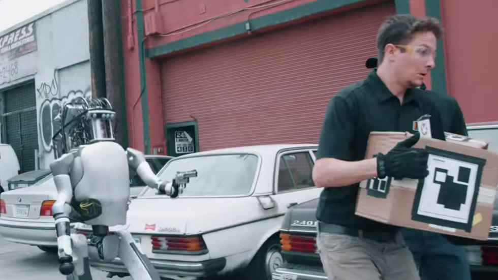 Humanoid robot gets tired of merciless bullying & pulls GUN on meatbags in (prophetic?) parody VIDEO