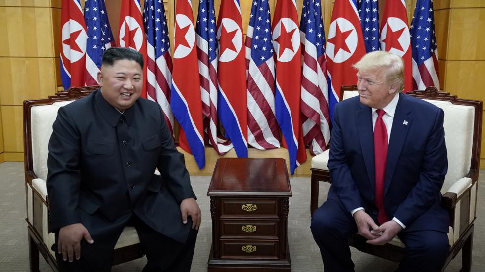 Trump & Kim meeting in DMZ organized in 'secret' by US, N. Korean officials – report