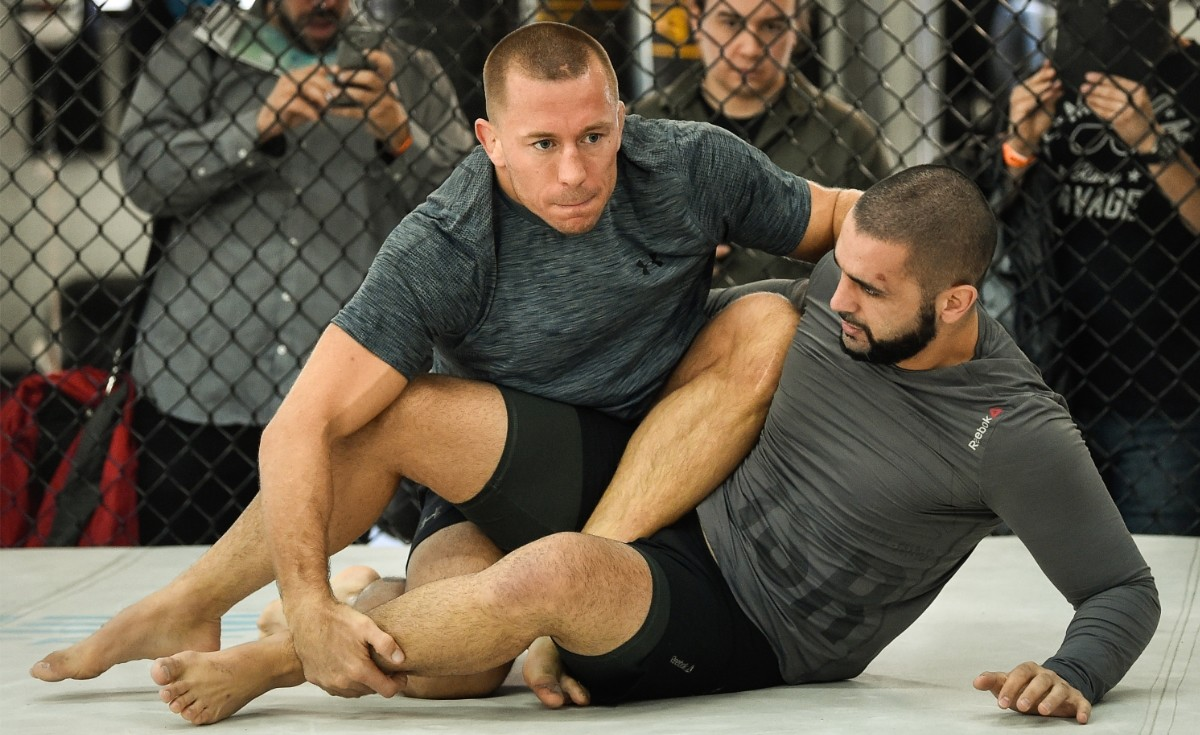 Firas Zahabi with UFC legend Georges St-Pierre