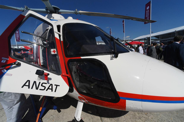 Helicóptero Ansat no Paris Air Show 2019 © Sputnik / Sergey Mamontov