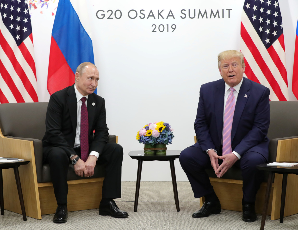 Vladimir Putin and Donald Trump at G20 summit