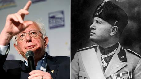 Benito Mussolini (R) © Global Look Press /Scherl; Senator Bernie Sanders (L) © REUTERS/Stephen Lam
