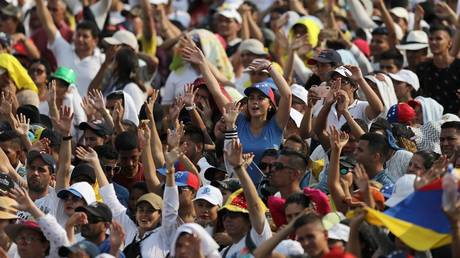 "People attend the ""Venezuela Aid Live"" concert in Cucuta, Colombia, February 22, 2019."