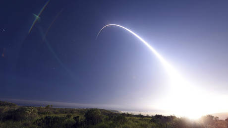 FILE PHOTO: A Minuteman III ICBM - which can carry a nuclear warhead - is test launched from a base in California © Reuters / Handout